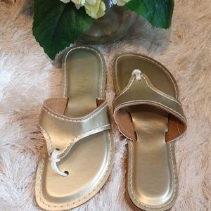 Kino Lily Gold Sandals Women's Size 8.